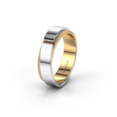 Trouwring WH6012LX6A 585 goud bruine diamant ±6x1.7 mm