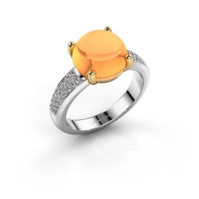 Foto van Ring Sophie 585 witgoud citrien 10 mm