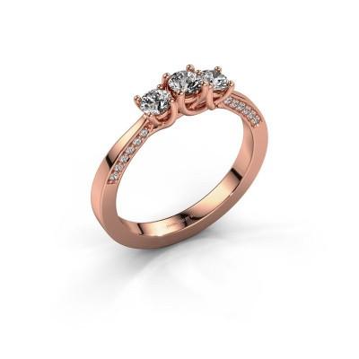 Foto van Verlovingsring Rivka 375 rosé goud diamant 0.50 crt