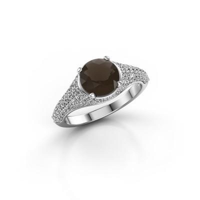 Picture of Ring Lovella 585 white gold smokey quartz 7 mm
