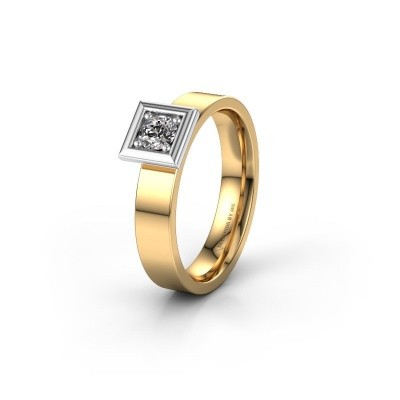 Trouwring WH2112L14A 585 goud zirkonia ±4x1.7 mm