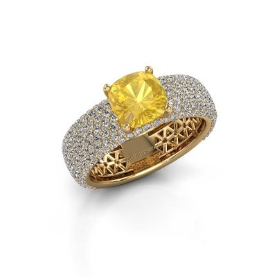 Engagement ring Darcy 375 gold yellow sapphire 7 mm