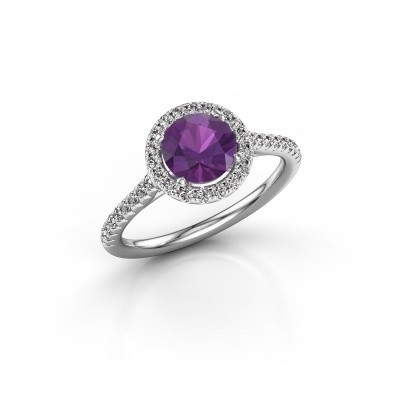 Picture of Engagement ring Seline rnd 2 950 platinum amethyst 6.5 mm