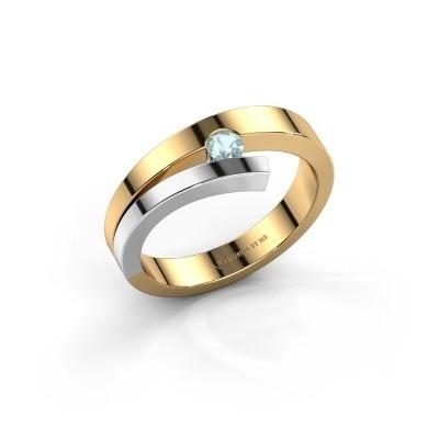 Ring Rosario 585 goud aquamarijn 3 mm