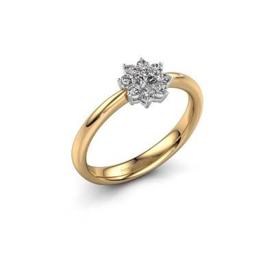 Foto van Verlovingsring Camille 1 585 goud lab-grown diamant 0.15 crt