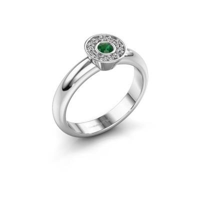 Foto van Ring Fiene 585 witgoud smaragd 2.8 mm