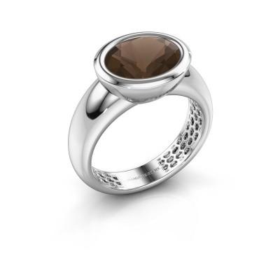 Picture of Ring Evelyne 585 white gold smokey quartz 10x8 mm