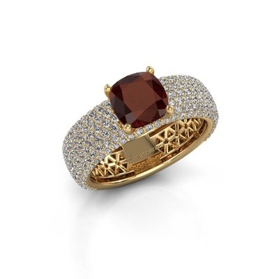 Engagement ring Darcy 375 gold garnet 7 mm