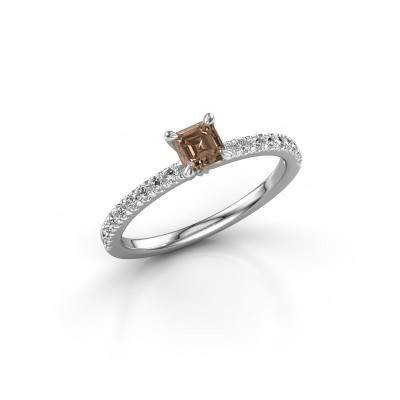 Foto van Verlovingsring Crystal ASS 2 925 zilver bruine diamant 0.680 crt