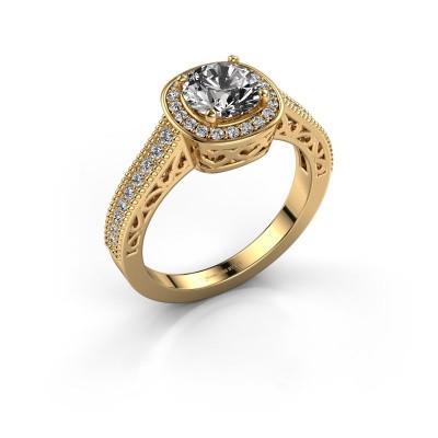 Engagement ring Candi 375 gold diamond 1.309 crt