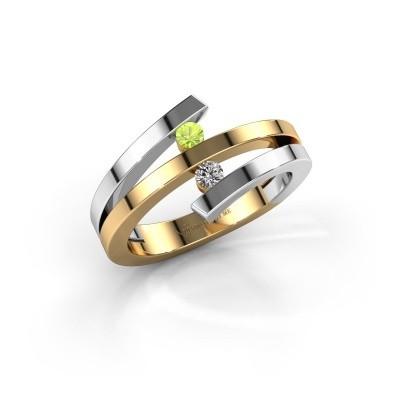 Foto van Ring Synthia 585 goud peridoot 2.5 mm