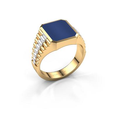 Foto van Zegelring Brent 2 585 goud lapis lazuli 12x10 mm