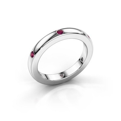 Stackable ring Charla 925 silver rhodolite 2 mm