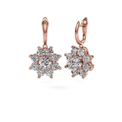 Drop earrings Camille 1 375 rose gold diamond 6.00 crt
