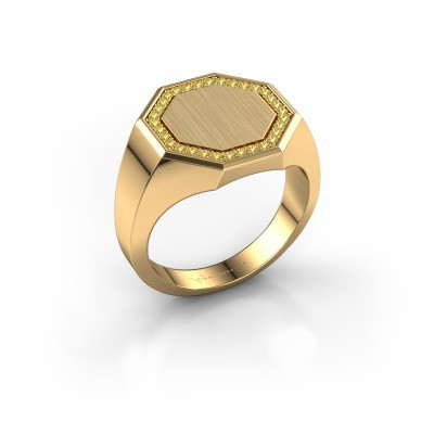 Heren ring Floris Octa 3 375 goud gele saffier 1.2 mm