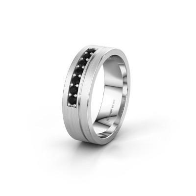 Trouwring WH0312L16AM 925 zilver zwarte diamant ±6x1.7 mm