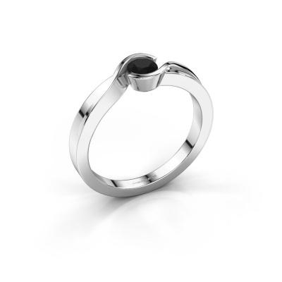Ring Lola 585 white gold black diamond 0.30 crt