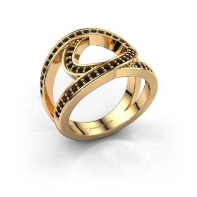 Ring Louise 375 goud zwarte diamant 0.53 crt