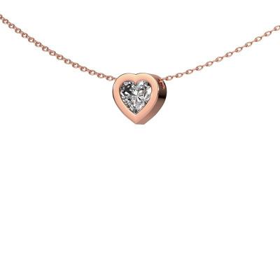 Foto van Hanger Tonja 375 rosé goud diamant 1.00 crt