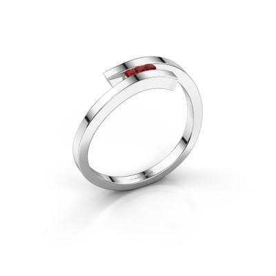 Ring Juliette 925 silver ruby 1.6 mm