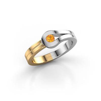 Ring Kiki 585 white gold citrin 3 mm