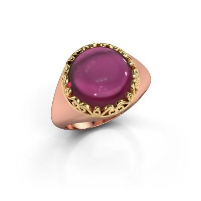 Ring Birgit 585 rosé goud rhodoliet 12 mm