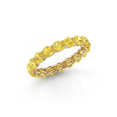Foto van Ring Kirsten 3.4 375 goud gele saffier 3.4 mm