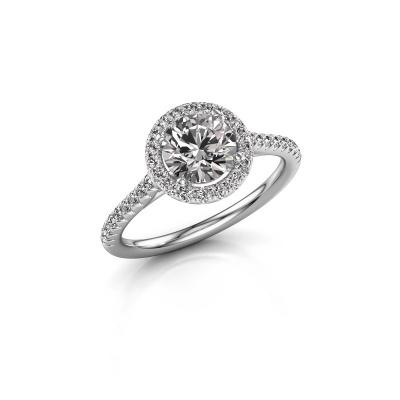 Photo de Bague de fiançailles Seline rnd 2 925 argent diamant synthétique 1.340 crt