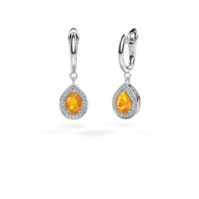 Picture of Drop earrings Ginger 1 950 platinum citrin 7x5 mm