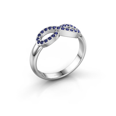 Ring Infinity 2 585 witgoud saffier 1.2 mm