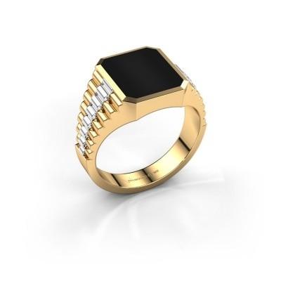 Foto van Rolex stijl ring Brent 2 585 goud onyx 12x10 mm