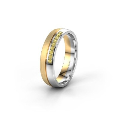 Wedding ring WH0209L25APM 585 gold yellow sapphire ±0.20x0.07 in