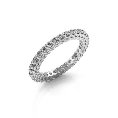 Picture of Stackable ring Rufina 3 585 white gold lab created 0.896 crt