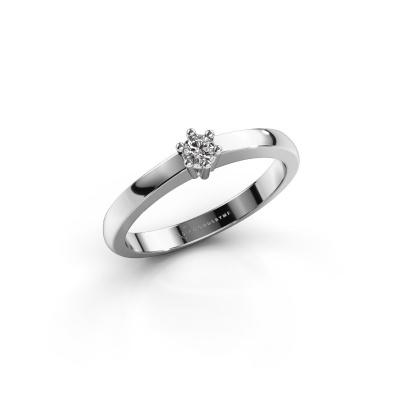 Engagement ring Luna 1 585 white gold diamond 0.055 crt