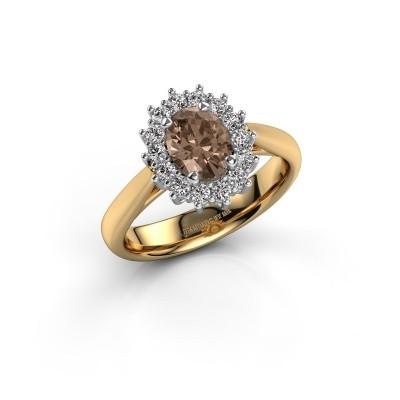 Foto van Verlovingsring Margien 1 585 goud bruine diamant 0.80 crt