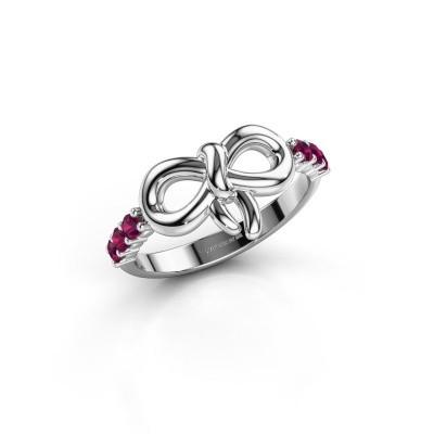 Ring Olympia 585 witgoud rhodoliet 2.2 mm