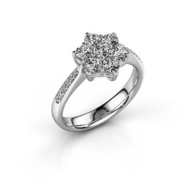 Foto van Verlovingsring Chantal 2 950 platina diamant 0.15 crt