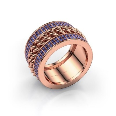 Picture of Ring Jayda 375 rose gold sapphire 1.2 mm