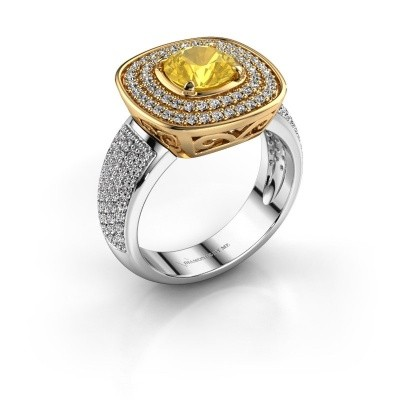 Ring Eliana 585 goud gele saffier 6 mm