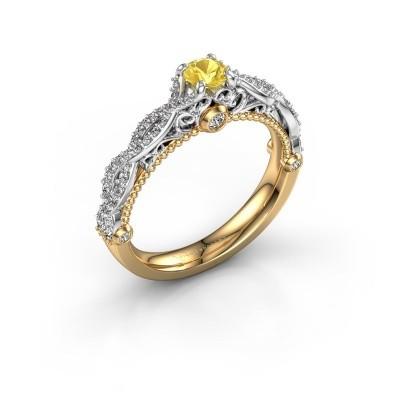 Foto van Verlovingsring Chantelle 585 goud gele saffier 4 mm