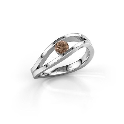 Picture of Ring Sigrid 1 950 platinum brown diamond 0.25 crt