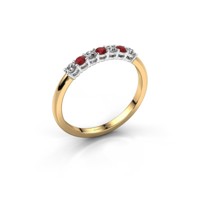 Engagement ring Michelle 7 585 gold ruby 2 mm