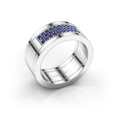 Ring Marita 3 925 silver sapphire 1.3 mm