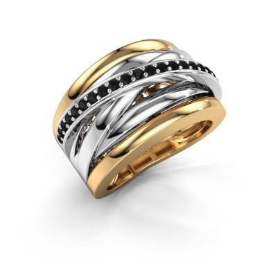 Foto van Ring Clair 1 585 goud zwarte diamant 0.378 crt