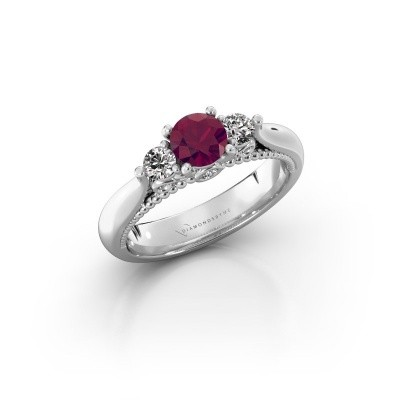 Picture of Engagement ring Tiffani 925 silver rhodolite 5 mm