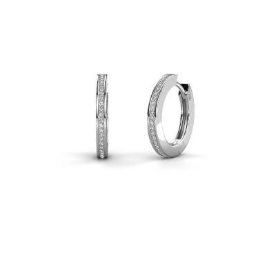 Foto van Creolen Renee 4 12 mm 925 zilver diamant 0.38 crt