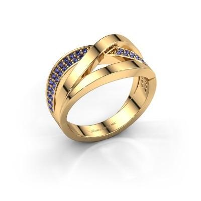 Foto van Ring Amira 375 goud saffier 1.2 mm