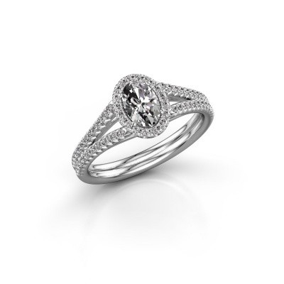 Foto van Verlovingsring Rachele 2 925 zilver diamant 0.83 crt