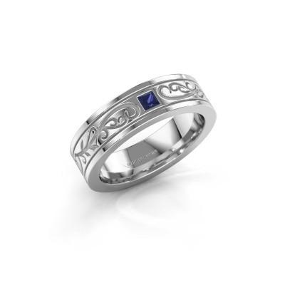 Men's ring Matijs 585 white gold sapphire 3 mm