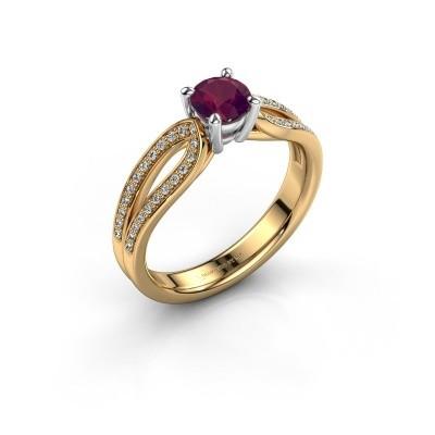 Verlovingsring Antonia 2 585 goud rhodoliet 5 mm